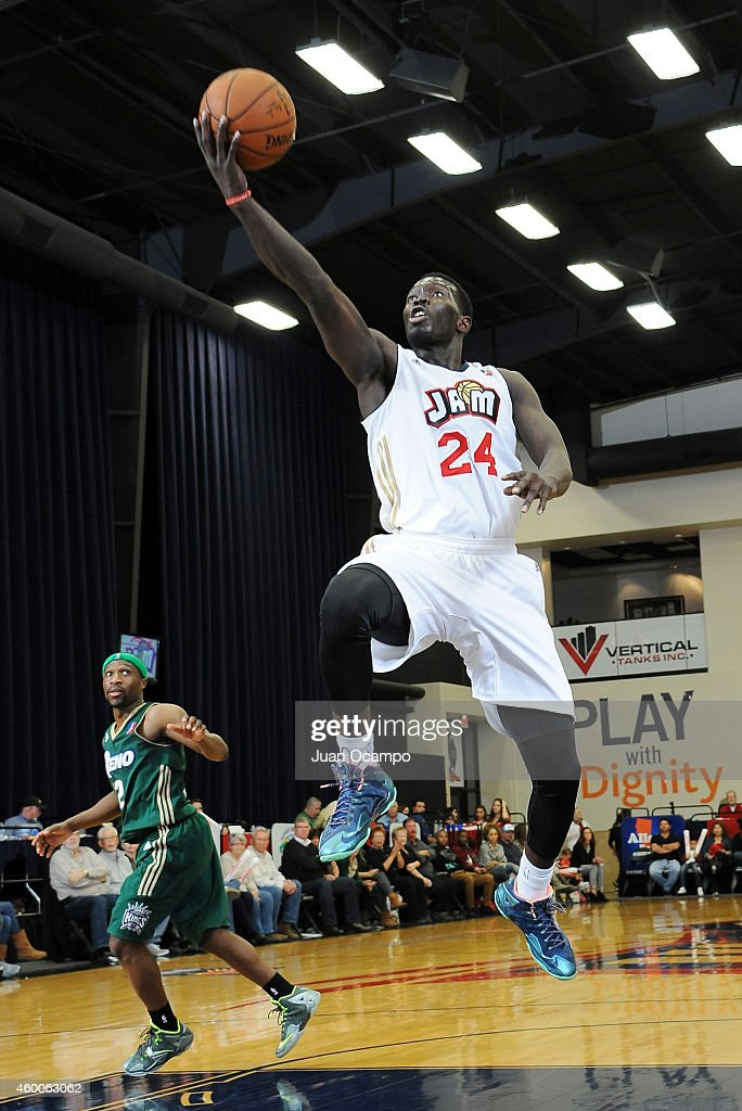 Mac Koshwal #24 of the Bakersfield Jam goes to the basket against the Reno Bighorns during a D-League game on December 5, 2014 at Dignity Health Event Center in Bakersfield, California.