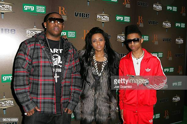Mac Main Chanel and Lil Twist arrives at the 6th Annual Roots Jam Session at Key Club on January 30 2010 in West Hollywood California