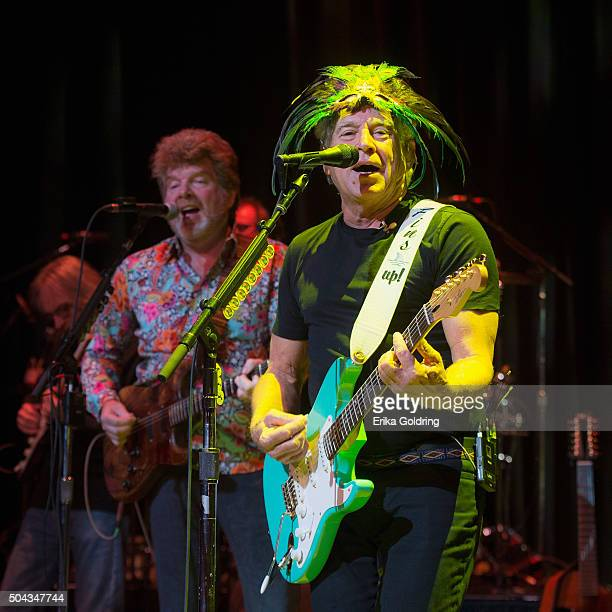 Mac McAnally and Jimmy Buffett perform during The Link Stryjewski Foundation's 1st Annual Bal Masque Benefit at The Orpheum Theatre on January 9 2016...