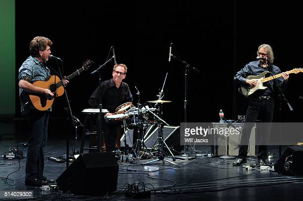 Mac McAnally Eric Darken and Sonny Landreth perform at the benefit concert for GRAMMY Museum Mississippi on March 5 2016 in Cleveland Mississippi