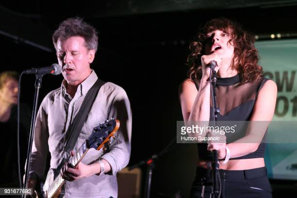 Mac McCaughan of Superchunk and special guest Sabrina Ellis perform onstage at the Music Opening Party during SXSW at The Main on March 13 2018 in...