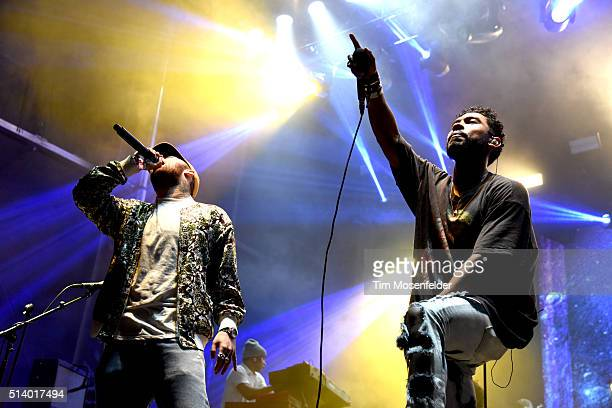 Mac Miller and Miguel perform as part of the Powow during the Okeechobee Music Arts Festival on March 5 2016 in Okeechobee Florida