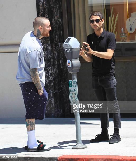 Mac Miller is seen on July 27 2017 in Los Angeles California