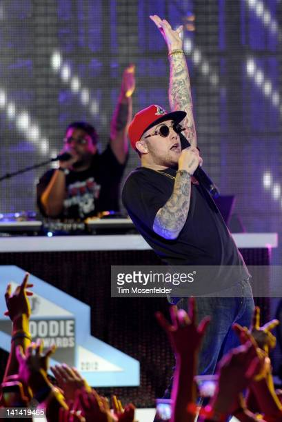 Mac Miller performs as part of the 2012 mtvU Woodie Awards on March 15 2012 in Austin Texas