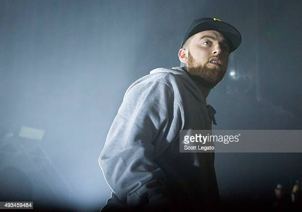 Mac Miller performs in support of the GOOD AM Tour at The Fillmore Detroit on October 14 2015 in Detroit Michigan