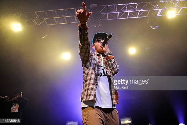 Mac Miller performs on stage at HMV Forum on May 24 2012 in London United Kingdom