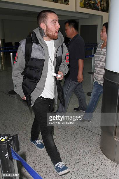 Mac Miller seen at LAX on March 12 2015 in Los Angeles California