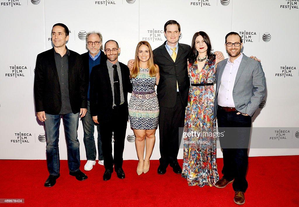 Mac Quayle, Dr. Ira P. Heilveil, Scott Uhlfelder, Carolina Groppa, Dave Hamrick, Lindsey Nebeker, and Matt Fuller attend the premiere of 'Autism In Love' during the 2015 Tribeca Film Festival at Regal Battery Park 11 on April 16, 2015 in New York City.