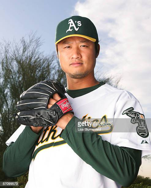 Mac Suzuki of the Oakland Athletics poses for a portrait during Oakland Athletics Photo Day on February 27 2006 at Papago Park in Phoenix Arizona
