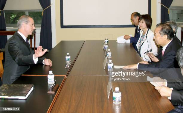 Mac Thornberry , chairman of the U.S. House Committee on Armed Services, and a group of Japanese lawmakers, led by Toshihiro Nikai , secretary...