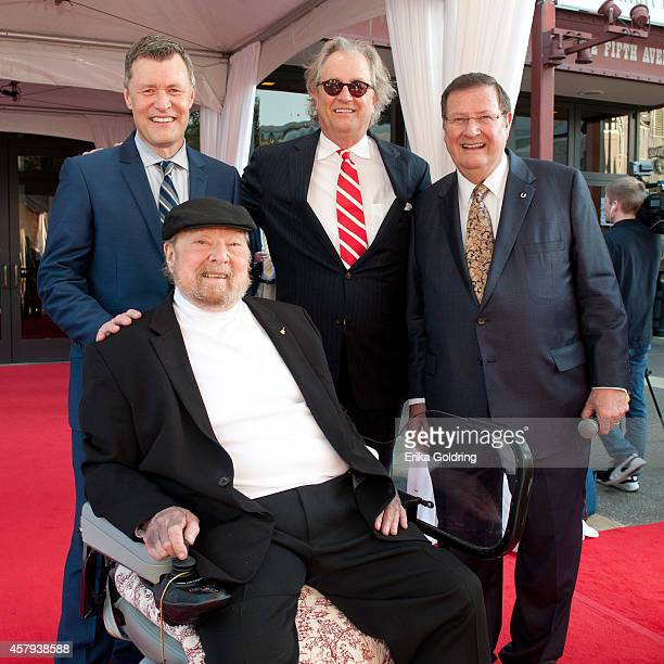 Mac Wiseman Bill Cody Kyle Young and Joe Turner attend the 2014 Country Music Hall of Fame induction ceremony at Country Music Hall of Fame and...