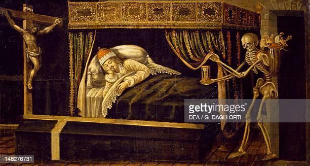 Macabre dream work by an unknown artist 17th Century Blois Castello Musee Des BeauxArts