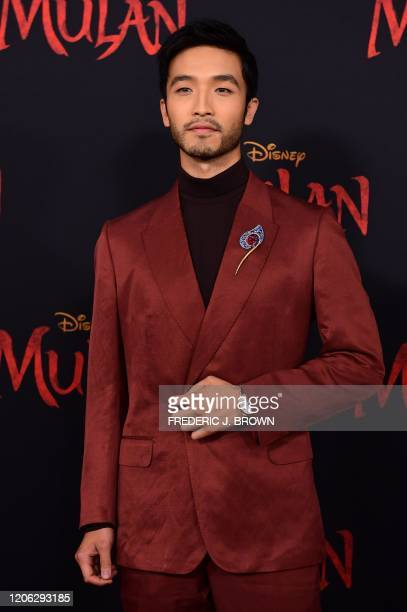 MacaneseNew Zealander actor Yoson An attends the world premiere of Disney's Mulan at the Dolby Theatre in Hollywood on March 9 2020