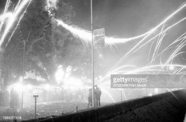 Macao Janvier 1988 Un feu d'artifice