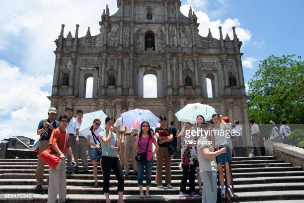 Macao's famous Facade in Macau China The Cathedral of Sain Paul also known as Saint Paul's Cathedral This ruin remains Macao's most famous tourist...