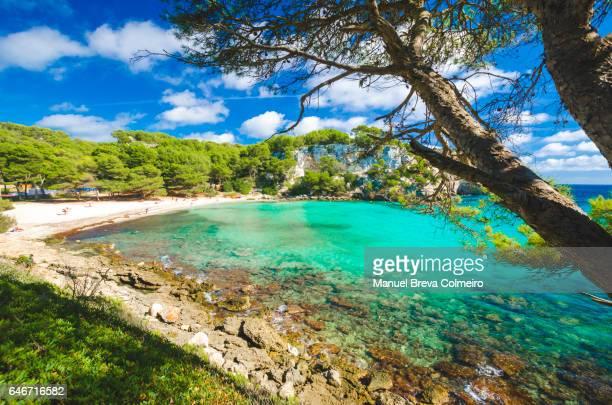 macarella - macarelleta beach, menorca - カラマカレラ ストックフォトと画像