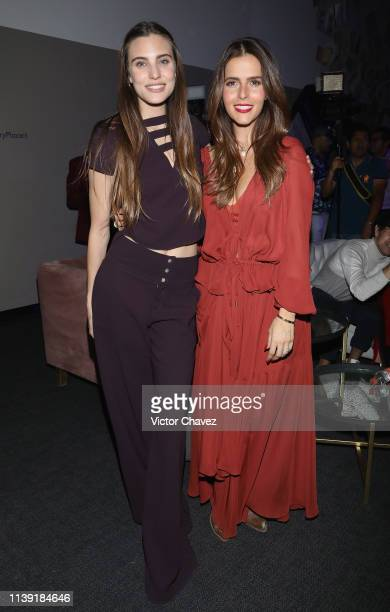 Macarena Achaga and Claudia Alvarez attend Story Place app launch at Centro on April 24 2019 in Mexico City Mexico