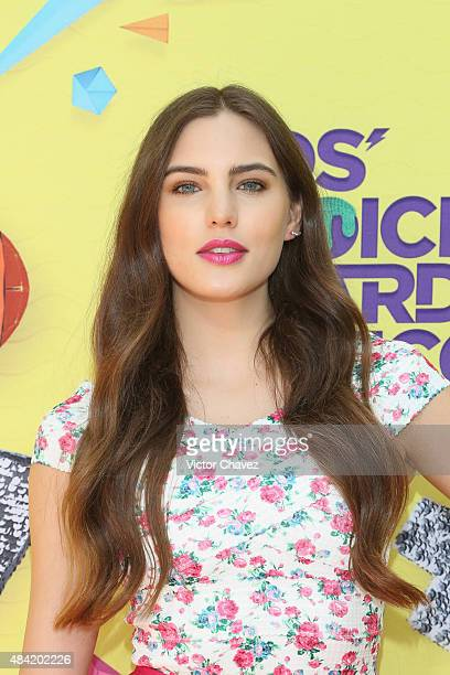 Macarena Achaga arrives at Nickelodeon Kids' Choice Awards Mexico 2015 Red Carpet at Auditorio Nacional on August 15 2015 in Mexico City Mexico