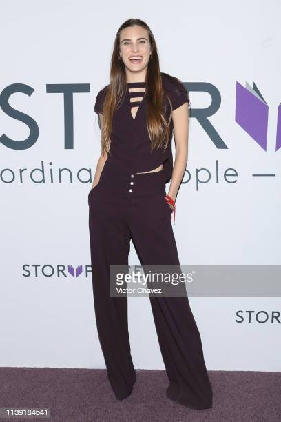 Macarena Achaga attends Story Place app launch at Centro on April 24 2019 in Mexico City Mexico