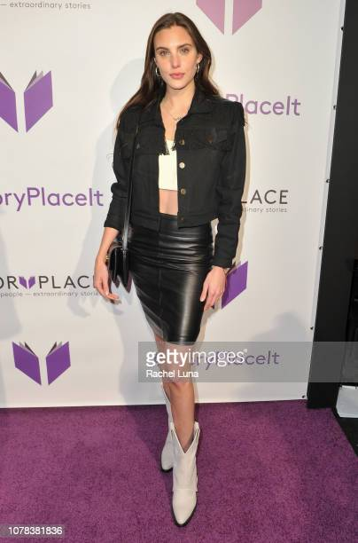 Macarena Achaga attends the launch of Egoless Social Sharing App StoryPlace at Monk Space on December 06 2018 in Los Angeles California