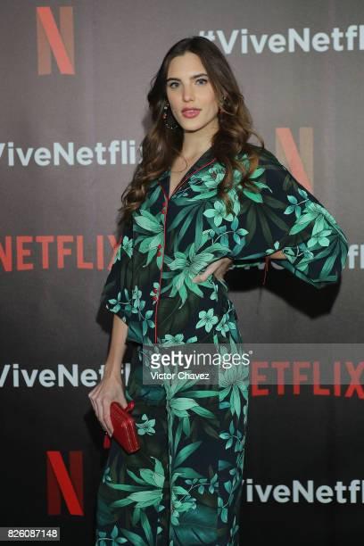 Macarena Achaga attends the Vive Netflix 2017 at Museo Casa de la Bola on August 2 2017 in Mexico City Mexico