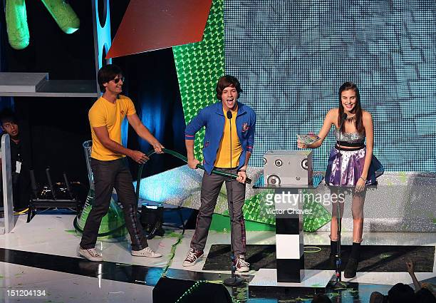 Macarena Achaga of M15 onstage at the Kids Choice Awards Mexico 2012 at Pepsi Center WTC on September 1 2012 in Mexico City Mexico