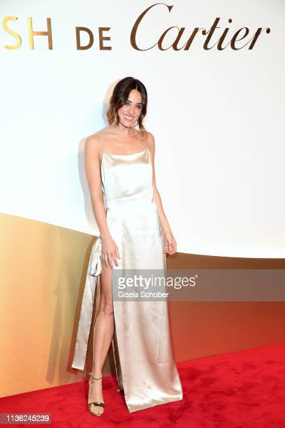 Macarena García wearing jewelry by 'Clash de Cartier' during the Clash de Cartier event at la Conciergerie on April 10 2019 in Paris France