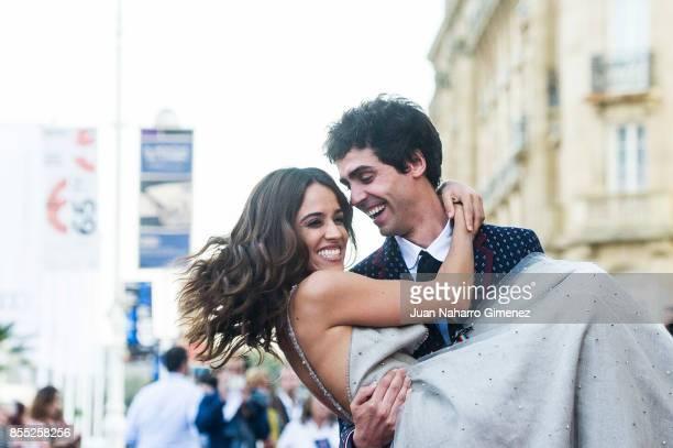 Macarena Garcia and Javier Ambrossi attend 'La Llamada' Premiere during 65th San Sebastian Film Festival on September 28 2017 in San Sebastian Spain