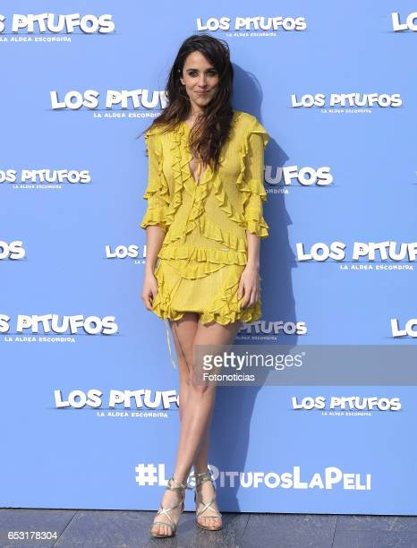 Macarena Garcia attends a photocall for 'Smurfs The Lost Village' at Casa Club on March 14 2017 in Madrid Spain