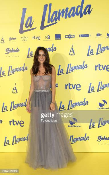 Macarena Garcia attends the 'La Llamada' premiere yellow carpet at the Capitolcinema on September 26 2017 in Madrid Spain