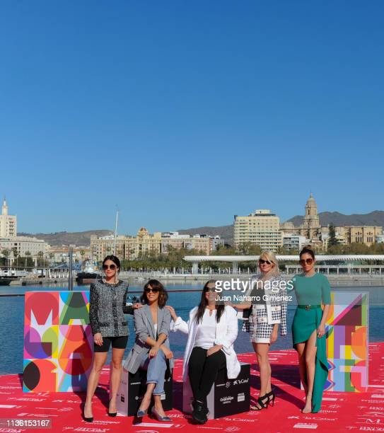 Macarena Garcia Belen Cuesta Gabriela Tagliviani Amaia Salamanca and Blanca Suarez attend 'A Pesar de Todo' photocall at Muelle Uno on March 16 2019...