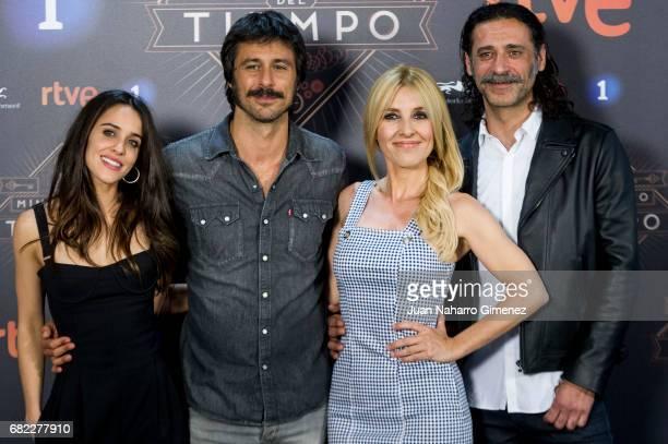 Macarena Garcia Hugo Silva Cayetana Guillen Cuervo and Nacho Fresneda attend 'El Ministerio del Tiempo' Third Seasson photocall at Radiotelevision...