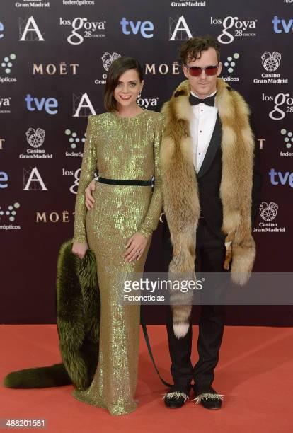 Macarena Gomez and guest attend Goya Cinema Awards 2014 at Centro de Congresos Principe Felipe on February 9 2014 in Madrid Spain