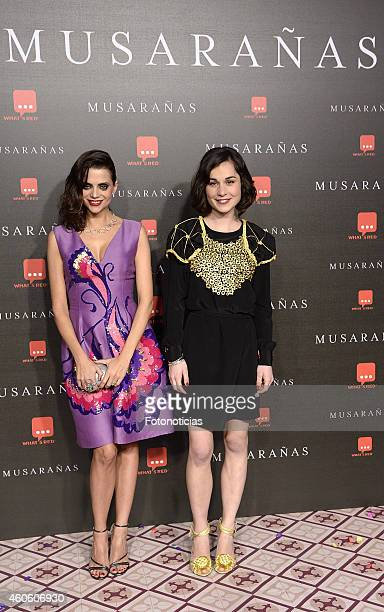 Macarena Gomez and Nadia de Santiago attend the 'Musaranas' Premiere at the Capitol Cinema on December 17 2014 in Madrid Spain