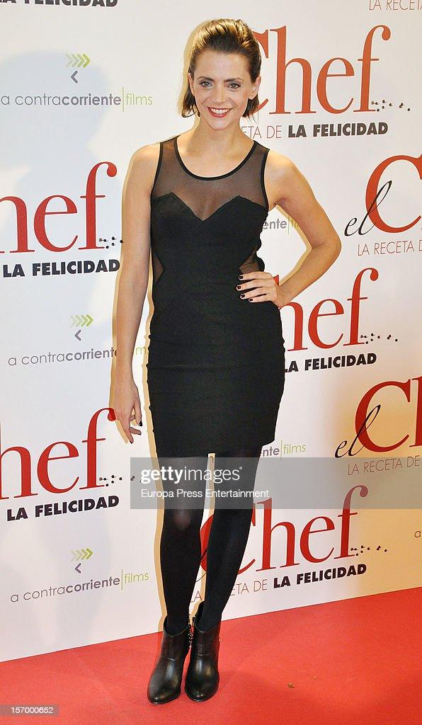 Macarena Gomez attends 'El Chef, La Receta de la Felicidad' premiere on November 26, 2012 in Madrid, Spain.
