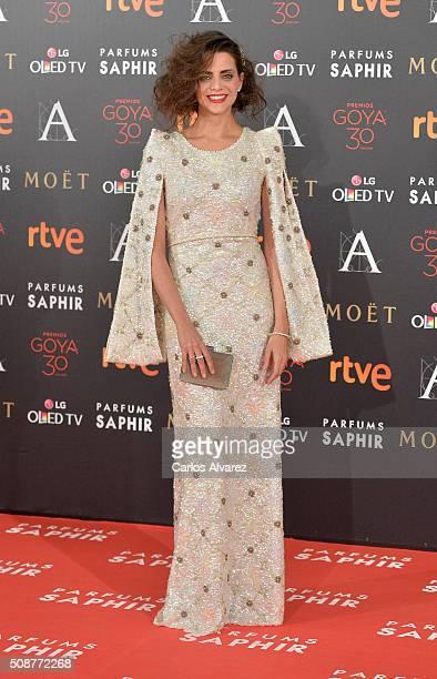 Macarena Gomez attends Goya Cinema Awards 2016 at Madrid Marriott Auditorium on February 6 2016 in Madrid Spain