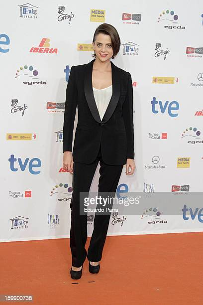 Macarena Gomez attends Jose Maria Forque awards photocall at Canal theatre on January 22 2013 in Madrid Spain