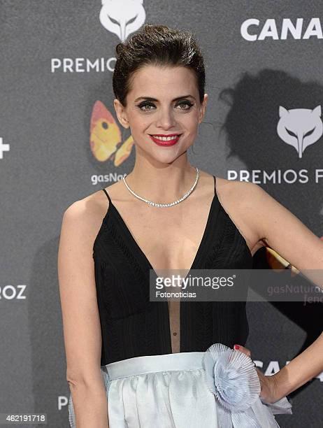 Macarena Gomez attends the 2015 'Feroz' Cinema Awards at Gran Teatro Ruedo Las Ventas on January 25 2015 in Madrid Spain