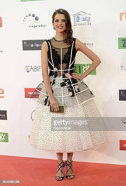 Macarena Gomez attends the Jose Maria Forque Awards at the Palacio de Congresos on January 11 2016 in Madrid Spain