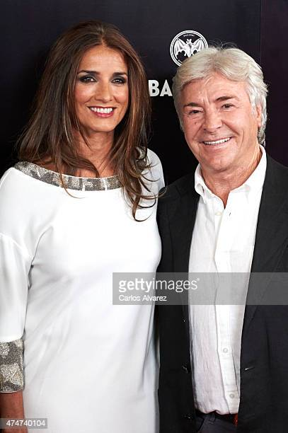 Macarena Rey and Angel Nieto attend the 'Pacha El Arquitecto De La Noche' documentary premiere at the Capitol cinema on May 25 2015 in Madrid Spain