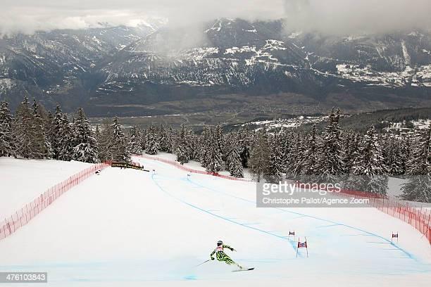 Macarena Simari Birkner of Argentina competes during the Audi FIS Alpine Ski World Cup Women's Downhill on March 02 2014 in CransMontana Switzerland