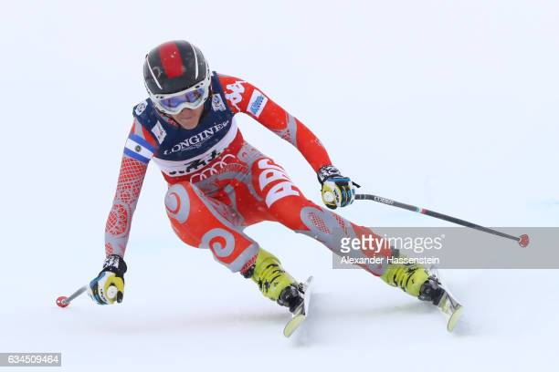 Macarena Simari Birkner of Argentina competes during the Women's Combined Downhill during the FIS Alpine World Ski Championships on February 10 2017...