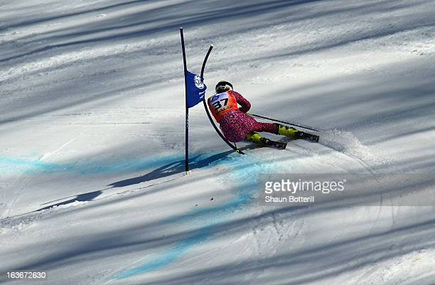 Macarena Simari Birkner of Argentina competes in the Ladies' Giant Slalom at Rosa Khutor Alpine Center on March 14 2013 in Sochi Russia