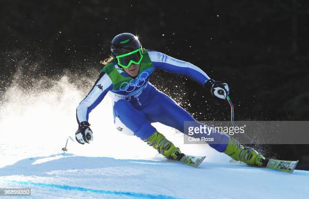 Macarena Simari Birkner of Argentina competes in the women's alpine skiing SuperG on day nine of the Vancouver 2010 Winter Olympics at Whistler...