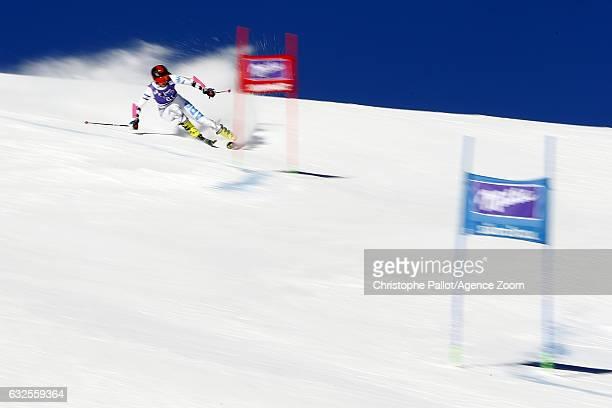Macarena Simari Birkner of Argentina in action during the Audi FIS Alpine Ski World Cup Women's Giant Slalom on January 24 2017 in Kronplatz Italy