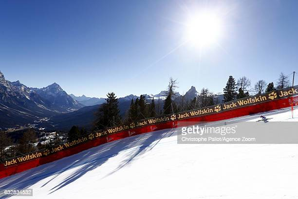 Macarena Simari Birkner of Argentina in action during the Audi FIS Alpine Ski World Cup Women's Downhill Training on January 27 2017 in Cortina...
