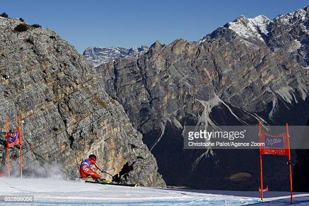Macarena Simari Birkner of Argentina in action during the Audi FIS Alpine Ski World Cup Women's Downhill on January 28 2017 in Cortina d'Ampezzo Italy