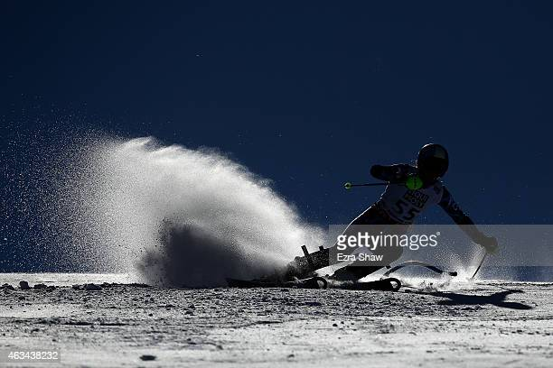 Macarena Simari Birkner of Argentina races during the Ladies' Slalom on the Golden Eagle racecourse on Day 13 of the 2015 FIS Alpine World Ski...