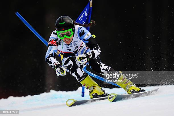 Macarena Simari Birkner of Argentina skis in the Women's Giant Slalom during the Alpine FIS Ski World Championships on the Kandahar course on...