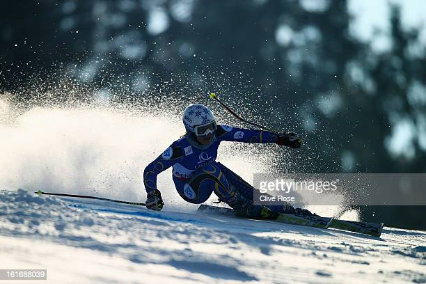 Macarena Simari Birkner of Argentina skis in the Women's Giant Slalom during the Alpine FIS Ski World Championships on February 14 2013 in Schladming...